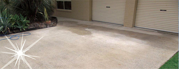 Ballina byron pressure cleaning provides pressure cleaning for Best solution to clean concrete driveway